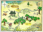 Winnie The Pooh 100 acre map  Photographic print A4 or A5 by Christopher Robin