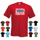 'This is What an Awesome Builder' Looks Like' Mens Funny Workman t-shirt Tee