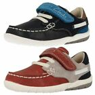 Boys Clarks First Deck Style Shoes Softly Flag