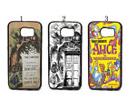 Alice in Wonderland with Tardis Style Pattern Case Cover For Samsung Galaxy S6