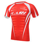 Red Men Tight Shirt GYM Compression Base Layer Short Sleeve Tee Cycling Jersey