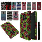 For Samsung Galaxy Note Edge N915 DIAMOND BLING HARD Case Phone Cover + Pen