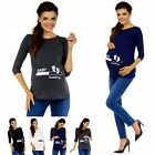 Zeta Ville Maternity - Women's Pregnancy funny Baby Feet print T-shirt Top 549c