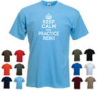 'Keep Calm and Practice Reiki' -  Unisex / Men's Birthday Gift t-shirt Tee