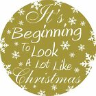 I'ts begining to look a lot like christmas wall art sticker window decoration