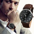 Mens Luxury Sport Watch Leather Band Watch Analog Quartz Casual Watches Gifts