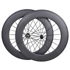 88mm Carbon Wheelset Clincher Road cyclo cross Bicycle Rim Tape 700C 3k Matt