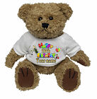 PERSONALISED TEDDY BEAR 18th - 30TH BIRTHDAY CHAMPAGNE DESIGN -  ANY NAME
