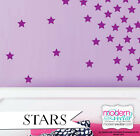 "Stars Vinyl Wall Decal Stickers Peel and Stick Multi Sizes 1.5"" - 3.5"" Tall"