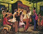 """Swing Night"" by Sarah Jenkins Poster Print Jazz Ragtime Dancing Black Americana"
