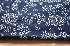 Dark blue calico kerchief fabric 100%cotton handmade traditional countryside 32""