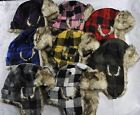 Men's and Women's Adult Buffalo Plaid Aviator Hats in Various colors