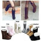 1Pair Women Lady Winter Snow Boots Ankle Boots Warmer Shoes Flat Shoes 6sizes LA