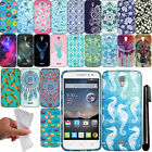 For Alcatel OneTouch POP Astro 5042N 5042T TPU SILICONE Bumper Case Cover + Pen