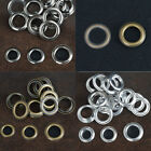 Pack 20/50 Silver Brass Black 12/14/17mm Solid Brass Eyelets w/washer Banner UK