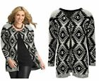 LADIES WOMANS WINTER EVENING PARTY CHRISTMAS GLITTER CARDIGAN JACKET SIZE 14-24