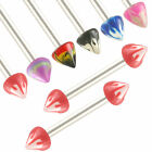 2Pcs steel barbell eyebrow piercing tragus bars lip ring 9CSJ-SELECT DESIGN&SIZE