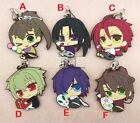 New Anime Game Hakuouki Characters Rubber Phone Straps Pendants Figers Keychains