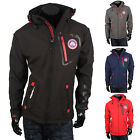 GEOGRAPHICAL NORWAY Top Herren Softshell Jacke 87122 Outdoor Kapuze Sweat Neu