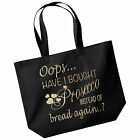 NEW Maxi Large Capacity 18 Litre Shopping Bag Oops Have I Bought Prosecco Again