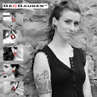 5 Pair Set of GeoGauges Brand Silicone Tunnels Ear Plugs Gauges Body Jewelry