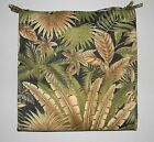 IN/OUTDOOR CHAIR CUSHION -TOMMY BAHAMA FABRIC BLACK GREEN TROPICAL -CHOOSE SIZE