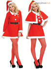 Ladies Miss Santa Costume Womens Father Christmas Outfit Xmas Fancy Dress Party