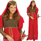 Ladies JULIET Medieval Maid Marian Princess Tudor Book Week Fancy Dress Med - XL