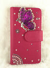 Bling Flip PU Leather Card Slots Wallet Case Cover Pouch For LG L80
