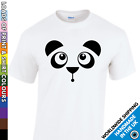 Kids Cute Panda Face Tshirt - Animal Lover Gift - Funny Boy & Girl Bear T Shirt