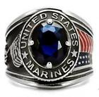 United States US Marines Mens Ring Blue Size 8 9 12 13 14 N P R Z+1 USA LTK130E