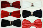 New Men Boys Kids Children Adjustable Wedding Party Prom Diamante Bow Tie