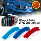 Fits BMW X5 E70 Year 2008-2013 Kidney Grille M Tech 3 Colour Cover Stripe Clips