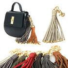 New Womens Genuine Leather Handbag Accessories TASSEL CHARM Key Chain A003
