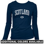 Scotland Women's Long Sleeve T-shirt LS - Edinburgh Glasgow Aberdeen Dundee S-2X