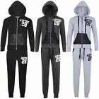 Girls Boys New York 28 Print Tracksuit Kids Jogging Bottoms Hooded Top 3-16 Y