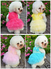 New Summer Pet Dog Chiffon Princess Skirt Size Dog Apparel High Quality Clothes