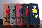 Classic Embroidery Rose soft shell Case Cover For galaxy Note 5 / S6 edge Plus