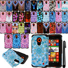 For Nokia Lumia 635 630 Shockproof HYBRID Rugged HARD Silicone Case Cover + Pen