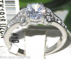 Size P R T 8 9 10 7mm Sweetheart Engagement Ring Simulated Diamond LTK1918E