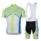Green Scales Cycling Clothing Set Short Sleeve  Bicycle Jersey Bib Bike Shorts