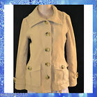 GAP Women Beige Cotton Short Collared Coat Jacket * Size XS