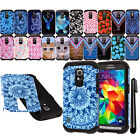 For Samsung Galaxy S5 Active G870A ShockProof HYBRID Rugged HARD Case Cover +Pen