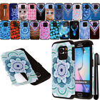 For Samsung Galaxy S6 G920 Shockproof HYBRID Silicone HARD SOFT Case Cover + Pen