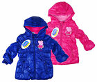 Kids Baby Peppa Pig Hooded Padded Winter Coat Puffa Style  12 18 24 30 Months