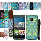 For HTC One M9 TPU Gel SILICONE Rubber SKIN Soft Case Phone Cover + Pen