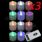 36x Remote Control Led Tea Light Candles Flameless Flickering Romantic Lamp