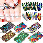 2 PCS Korea Glass Pieces Reflection Nail Art Metallic Stickers Holographic