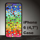 Rainbow Colorful Funny Emoji Case Cover iPhone 4s 5s 5c SE 6+ 6s+ 7 8 8+ #OM