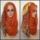180 x 95 cm Scarf Hijab Large Ombre Floral Multi-Color **MAXI VISCOSE** Shawl